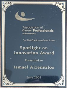 Ismael Ajzenszlos - Spotlight on Innovation Award