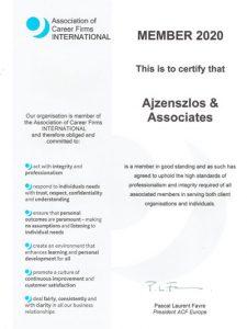 Member 2020 Association of Career Firms International